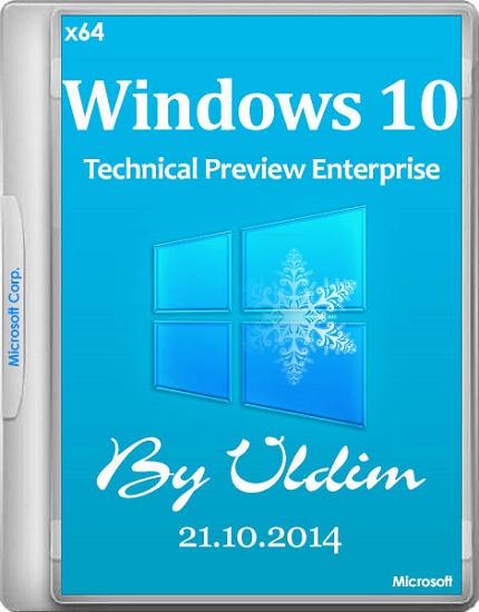 Windows 10 Technical Preview Enterprise 9860 by vldim (x64) (2014) [Rus]