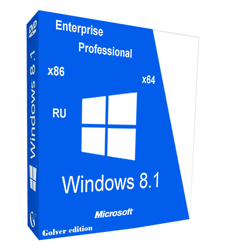 Windows 8.1 with Update Pro-Ent STR by Golver 10.2014 2DVD (x86-x64) (2014) [Rus]