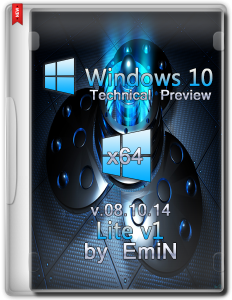 Windows 10 Technical Preview Lite v1 by EmiN (x64) (2014) [Eng]