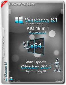 Windows 8.1 AIO 48in1 With Update Oktober by murphy78 (x64) (2014) [Rus/Eng/Ger/Ukr]