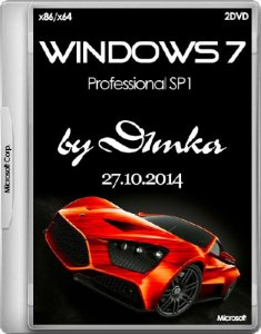 Windows 7 Professional SP1 by D1mka v5.1 v5.2 (x86-x64) (2014) [Rus]