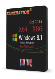 Windows 8.1 Pro VL Pre-Activate​d by generation2 (X86/X64 ) (Oct 2014) [En+Ru]