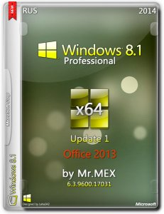 Windows 8.1 Pro Update 1 by Mr.MEX (x64) (2014) [Rus]