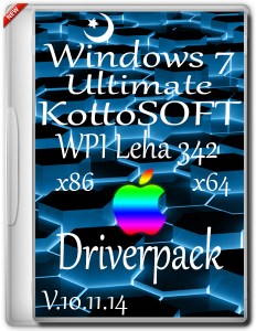 Windows 7 Ultimate KottoSOFT +WPI Leha 342 +Driverpack V.10.11.14 (x86-x64) (2014) [Rus]