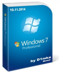 Windows 7 SP1 Professional Original by D1mka v5.5 v5.6 (x86-x64) (2014) [Rus]