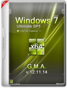 Windows 7 ultimate SP1 IE11 G.M.A. v.12.11.14 (x64) (2014) [Rus]
