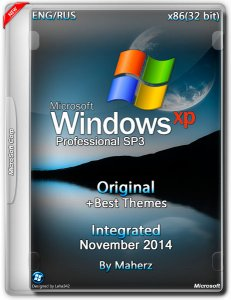 Windows XP Pro SP3 Integrated November + Best Themes by Maherz (x86) (2014) [ENG/RUS]