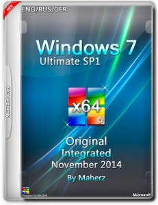 Windows 7 Ultimate SP1 Integrated November by Maherz (x64) (2014) [Rus]