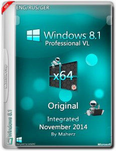 Windows 8.1 Professional VL Integrated November By Maherz (x64) (2014) [ENG/RUS/GER]