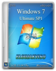 Windows 7 Ultimate SP1 (x86/x64) Elgujakviso Edition (v25.11.14) [Ru]