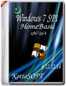 Windows 7 SP1 HomeBasic KottoSOFT V.12.12.14 (x86x64) (2014) [RUS]