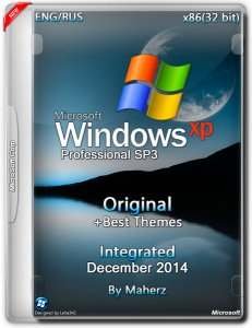 Windows XP Pro SP3 Integrated December By Maherz + Best Themes (x86) (2014) [Eng/Rus]