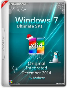 Windows 7 Ultimate SP1 Integrated December By Maherz v.7601 (x64) (2014) [ENG/RUS/GER]