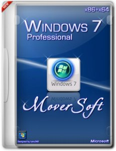 Windows 7 Pro SP1 by MoverSoft 6.1 (x86+x64) (2014) [Rus]