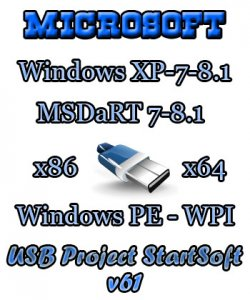 Windows 8.1-7 SP1-Chip XP Plus PE WPI StartSoft 61-2014 (x86-x64) (2014) [Rus]