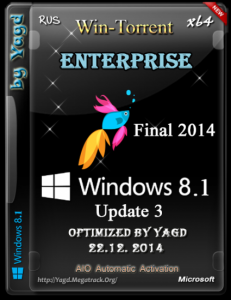 Windows 8.1 Enterprise Optimized by Yagd v.Final 2014 (x64) (22.12.2014) [Rus]