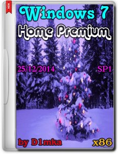Windows 7 SP1 Home Premium by D1mka V.25.12.14 (x86) (2014) [RUS]
