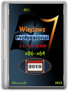 Microsoft Windows 7 Professional SP1 6.1.7601.22908 х86-х64 RU 1501 by Lopatkin (2015) Русский