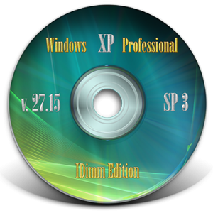 Windows XP Professional SP3 IDimm Edition Lite v.27.15 (x86) (2015) [Rus]