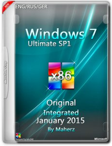 Windows 7 Ultimate SP1 Integrated January 2015 By Maherz (x86) (2015) [ENG/RUS/GER]