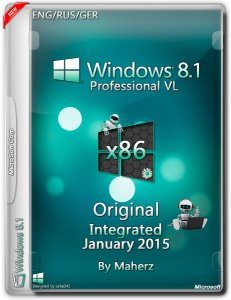 Windows 8.1 Professional VL Integrated January By Maherz (x86) (2015) [ENG/RUS/GER]