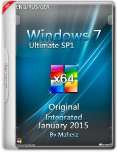 Windows 7 Ultimate SP1 Integrated January By Maherz (x64) (2015) [ENG/RUS/GER]