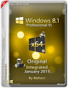 Windows 8.1 Professional VL Integrated January By Maherz (x64) (2015) [ENG/RUS/GER]