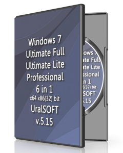 Windows 7 6 in 1 UralSOFT v5.15 (x86-x64) (2015) [Rus]