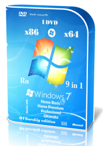 Microsoft Windows 7 SP1 9 in 1 Origin-Upd by OVGorskiy® (x86-x64) (2015) [Rus]