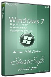 Windows 7 SP1 DVD & Acronis USB Project StartSoft 5-6-01-2015(x64)(2015) [Ru]
