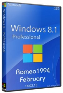 Windows 8.1 Professional (x86) Update For February by Romeo1994 (2015) Русский