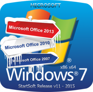 Windows 7 SP1 Plus Office & PE XP StartSoft 11 (x86 x64) (2015) [Ru]
