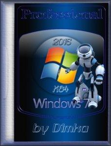 Windows 7 Professional SP1 by D1mka (x64) (2015) [Rus]