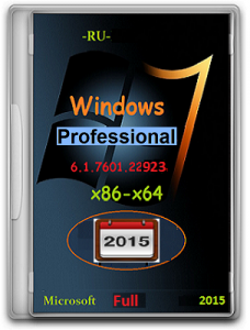 Microsoft Windows 7 Professional VL SP1 6.1.7601.22923.150113-1808 x86-х64 RU by Lopatkin (2015) Русский