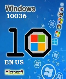 Microsoft Windows 10 Pro Technical Preview 10036 х86 EN-US SM by Lopatkin (2015) Английский