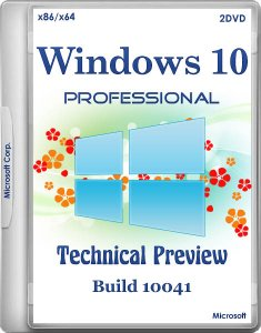 Windows 10 Professional Technical Preview by Andreyonohov Build 10041 2DVD (x86-x64) (2015) [Rus]