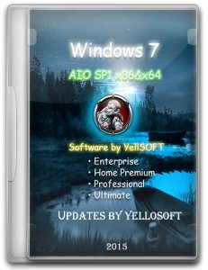 Windows 7 AIO SP1 (x86-x64) DVD updates by YelloSOFT (2015) [Ru]