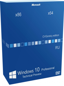 Windows 10 Technical Preview Professional by OVGorskiy� v.10041 2DVD (x86-x64) (2015) [Rus]