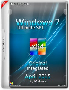 Windows 7 Ultimate SP1 Integrated April By Maherz (x64) (2015) [ENG/RUS/GER]