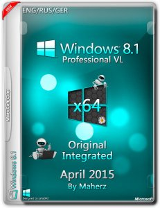 Windows 8.1 Professional VL Integrated April 2015 By Maherz (x64) (2015) [ENG/RUS/GER]