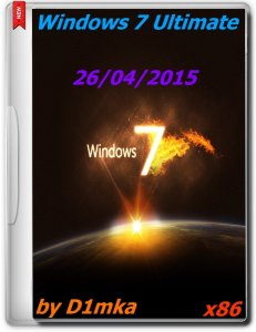 Windows 7 SP1 Ultimate by D1mka (x86) (26.04) (2015) [RUS]