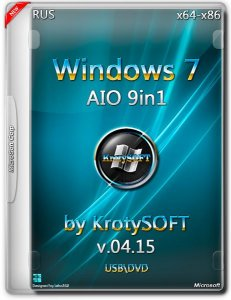Windows 7 AIO 9in1 by KrotySOFT v.04.15 (x86-x64) (2015) [Rus]