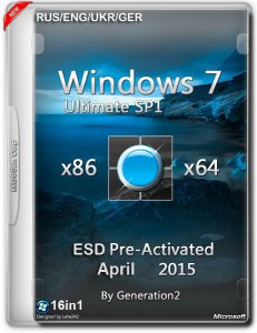 Windows 7 SP1 AIO 16in1 ESD PreActivated April by Generation2 v.7601 (x86/x64) (2015) [ENG/RUS/UKR/GER]