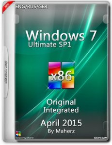 Windows 7 Ultimate SP1 Integrated April 2015 By Maherz (x86) (2015) [ENG/RUS/GER]