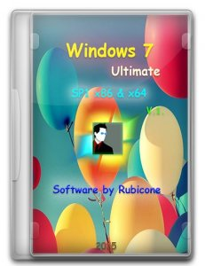 Windows 7 Ultimate SP1 by Rubicone v.1 (x86/x64) (2015) [Rus]