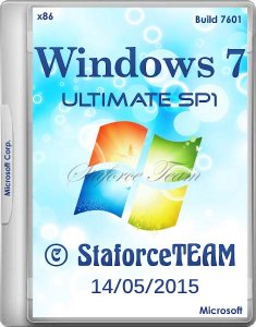 Windows 7 Build 7601 Ultimate SP1 RTM 14.05.2015 StaforceTEAM (x86) (2015) [DE/EN/RU]