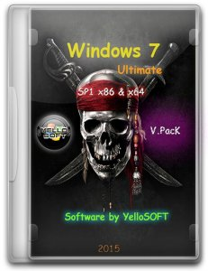 Windows 7 Ultimate SP1[v.PacK] by YelloSOFT (x86/x64) (2015) [Rus]