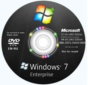Microsoft Windows 7 Enterprise SP1 6.1.7601.23072.150525-0604 x86-x64 EN-RU SMG by Lopatkin (2015) Rus/Eng