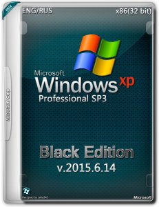 Windows XP Professional SP3 Black Edition 2015.6.14 (x86) (2015) [Mul|Eng]