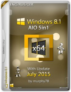 Windows 8.1 AIO 5in1 With Update July by murphy78 (x64) (2015) [ENG/RUS/GER]